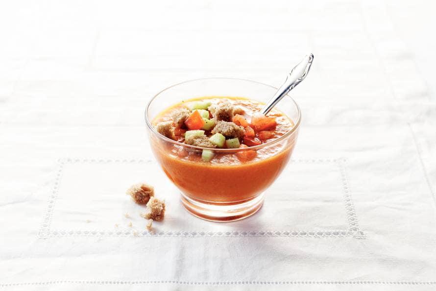 Gazpacho met geroosterde paprika