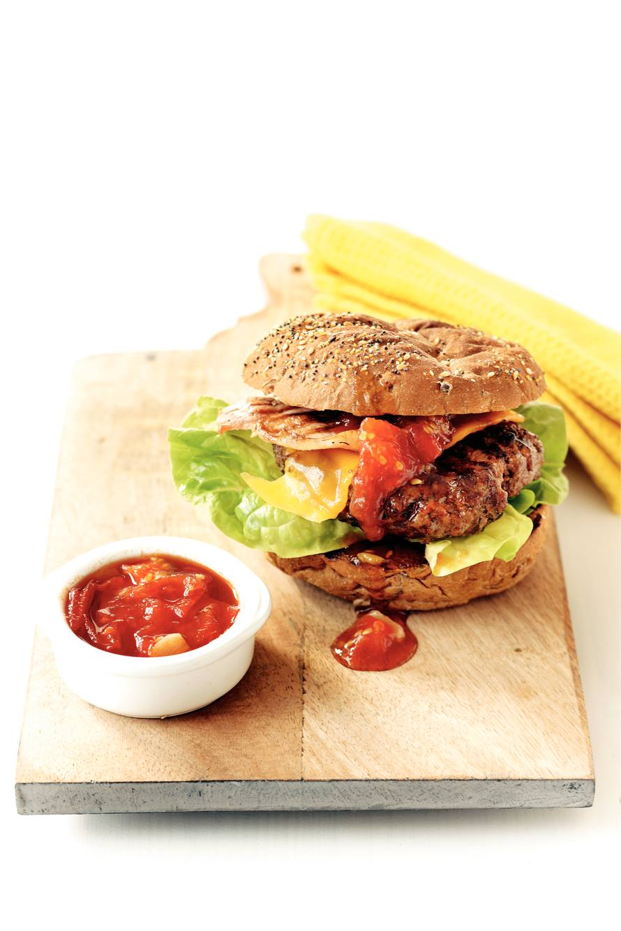 Kruidige biefburger