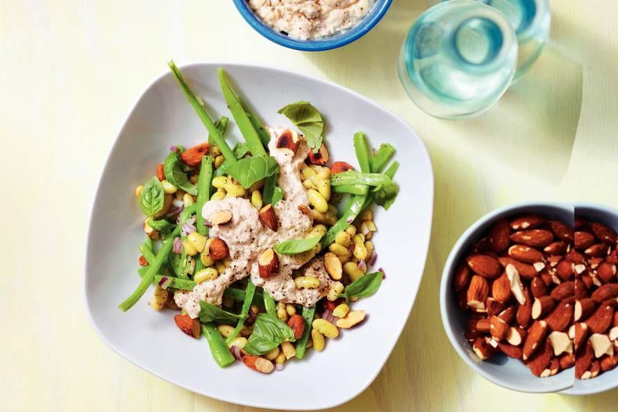 Zeer Bonensalade met tonijn en amandelen - Recept - Allerhande - Albert  #CO61