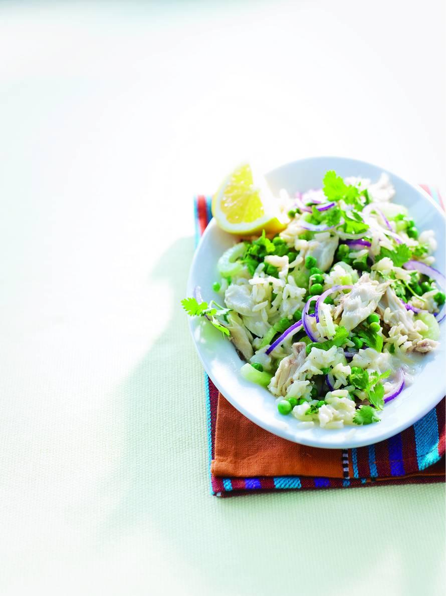 Rijstsalade met makreel