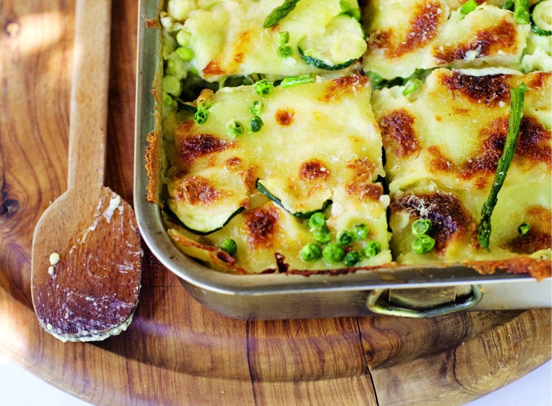 Lasagne met groene groenten
