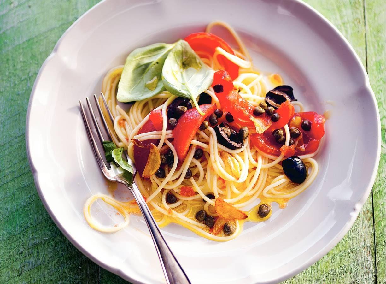 Spaghettini met tomaat