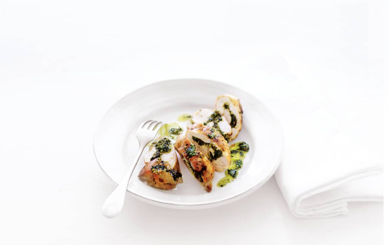 Kiprolletjes met pesto