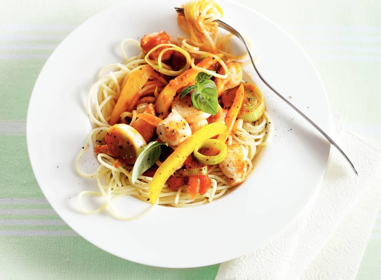 Spaghetti met kip