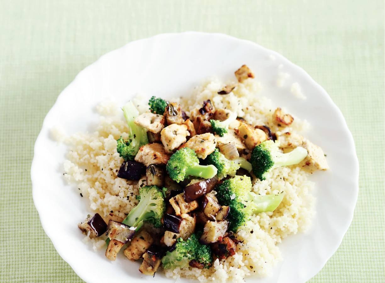 Quorn met broccoli
