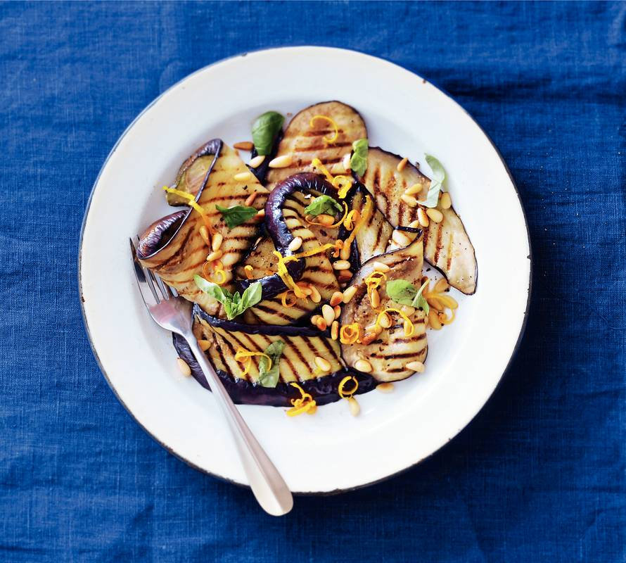 Frisse auberginesalade