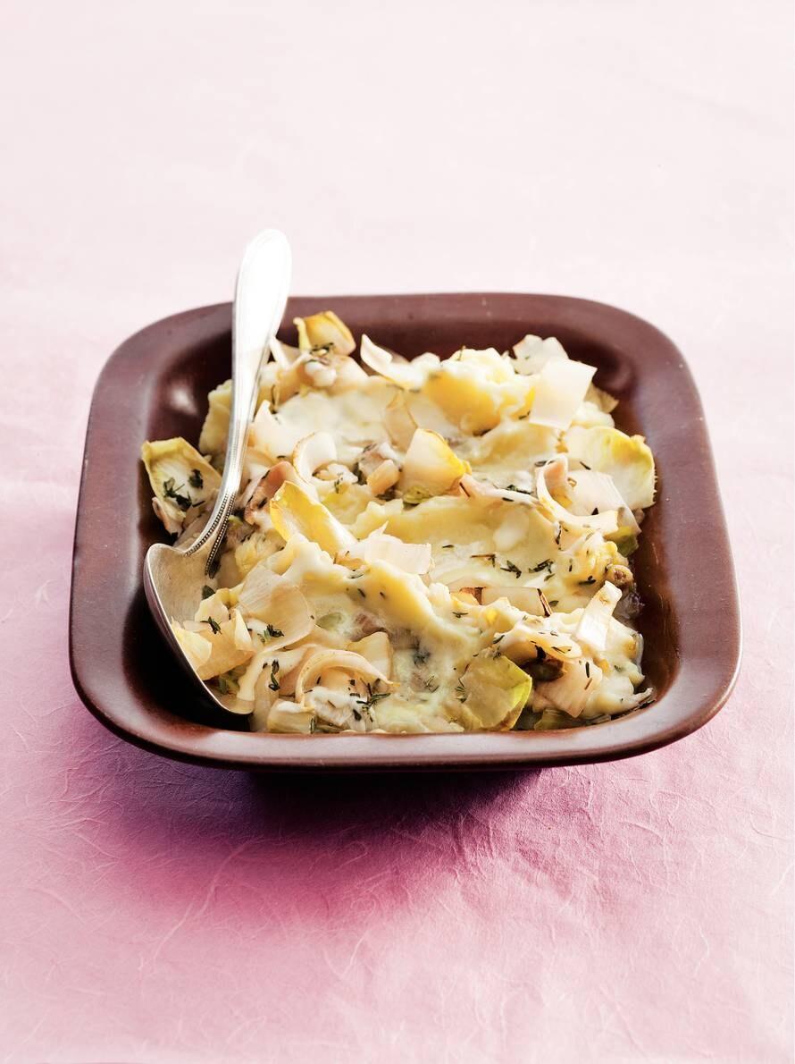 Puree met witlof en kaas