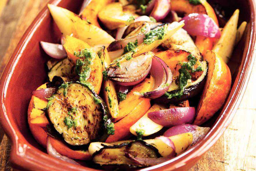 gebakken groenten in de oven