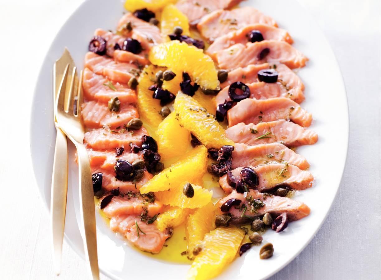 Zalm 'mi-cuit' met sinaasappel
