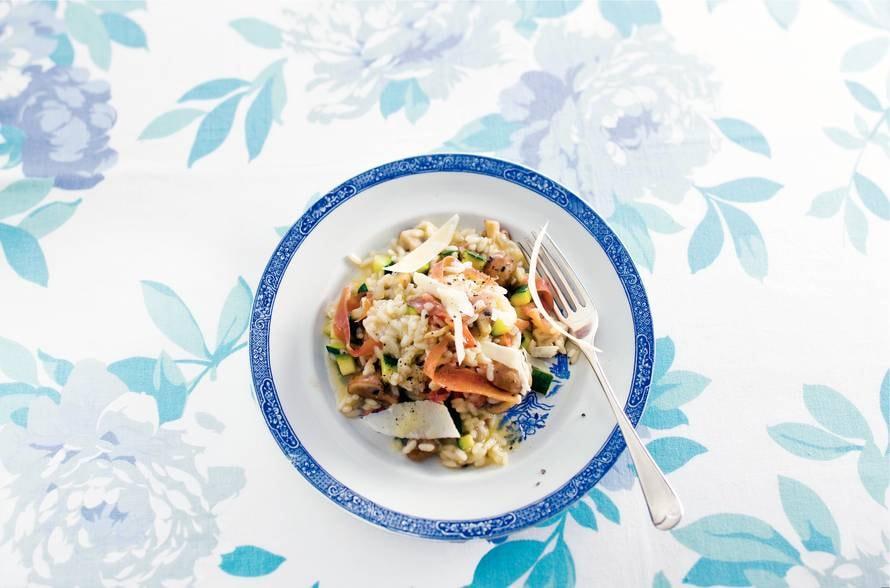 Risotto champignons met ham