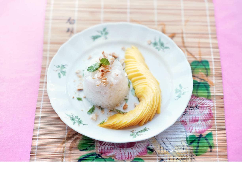 Kokosrijst met mango