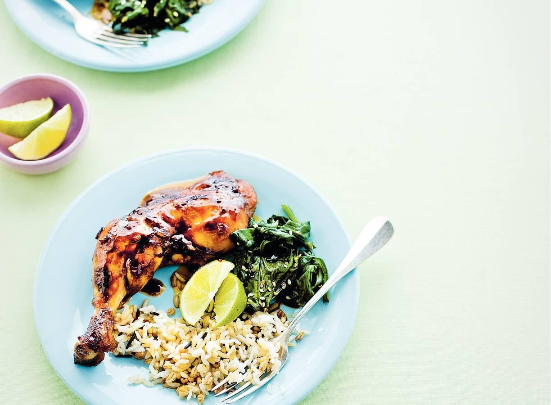 Hoisinkip en rijst