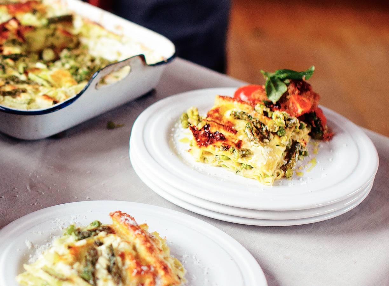 Lasagne met zomergroenten