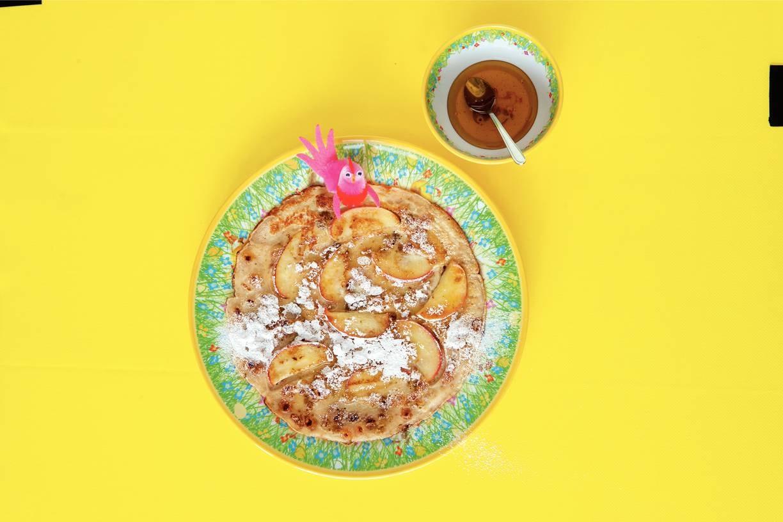 Meergranenpannenkoek met appel
