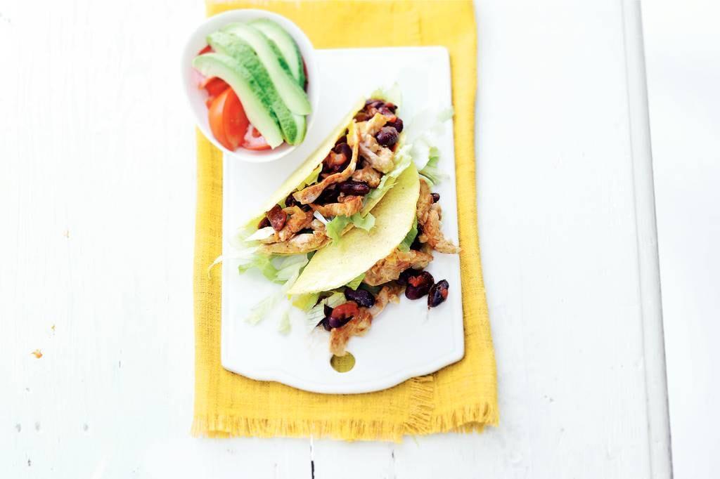 Taco's met kidneybonen en kip