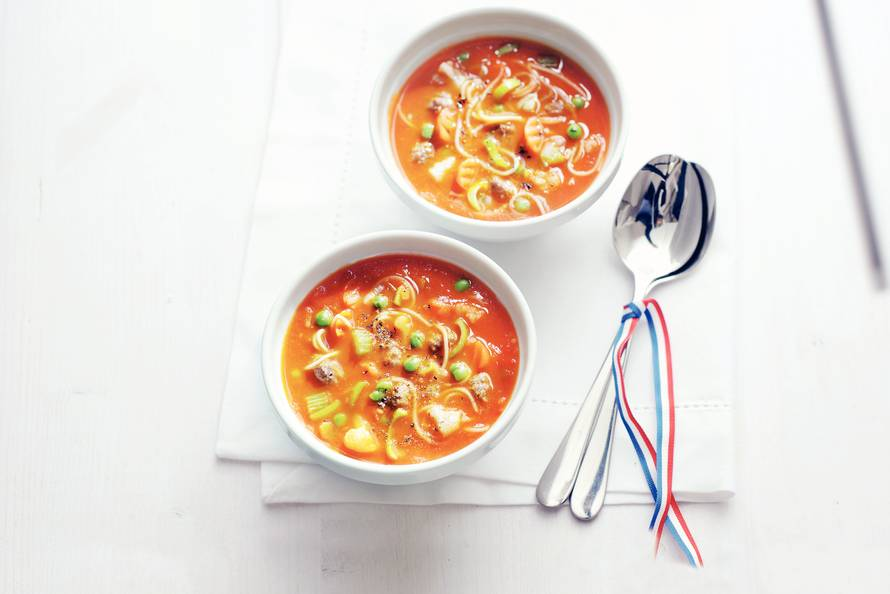 tomaten groente soep maken