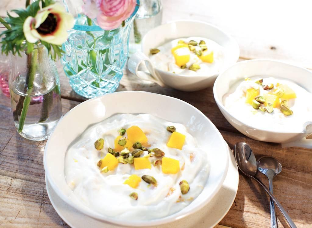 Nagerechten met yoghurt