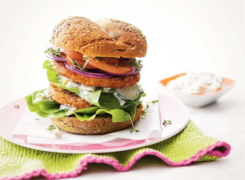 Rijkbelegde groenteburger