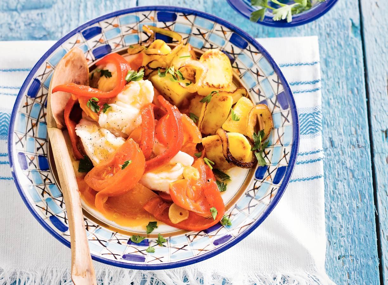 Portugese kabeljauw met paprika
