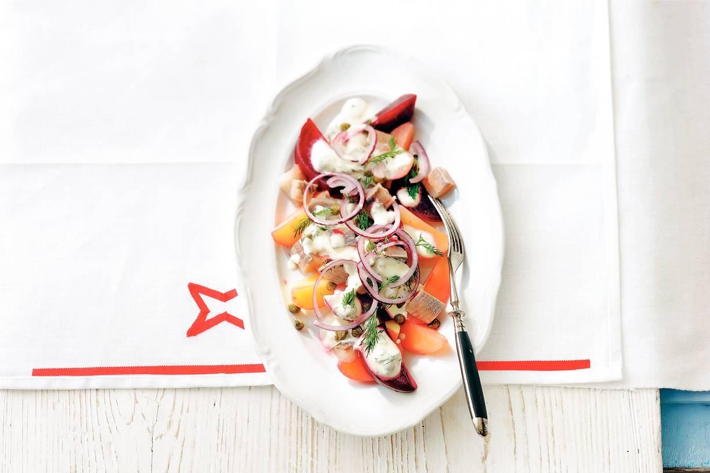 Bieten-haring-aardappelsalade