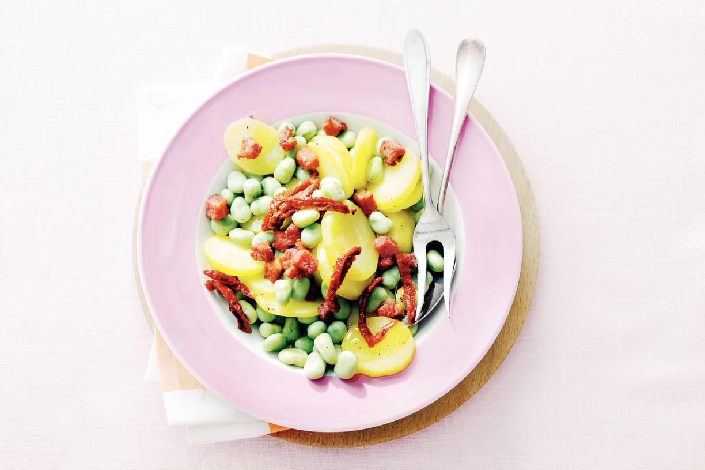 Salade met zongedroogde tomaat