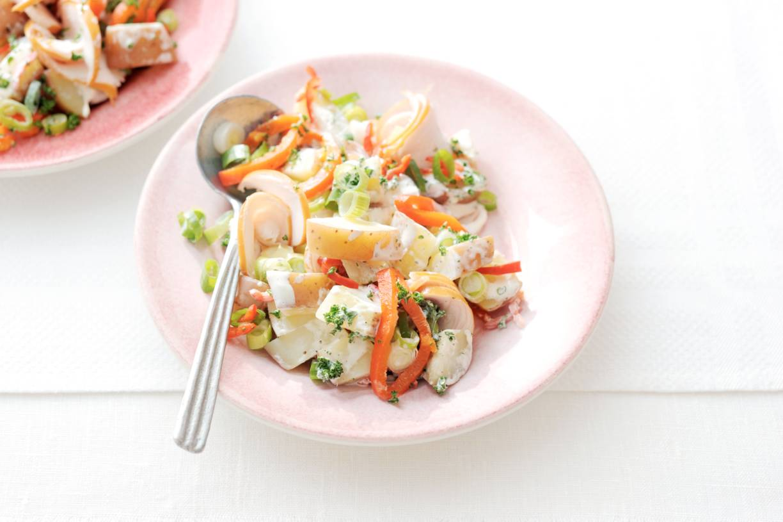 Portugese salade met kip en peper