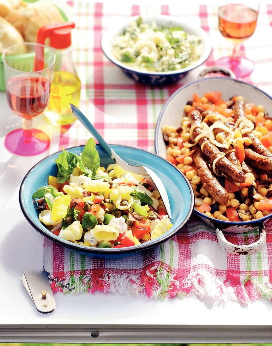 Aubergine met lam en couscous