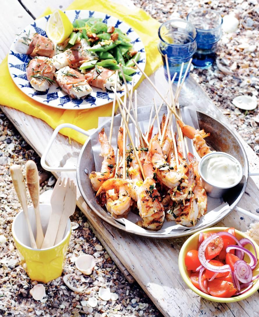 Siciliaanse knoflookgarnalen