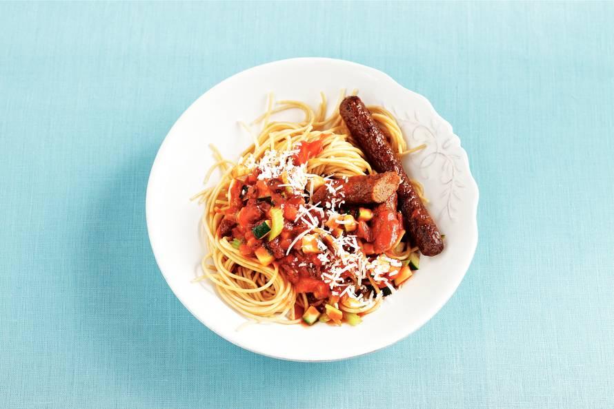 Spaghetti met saus
