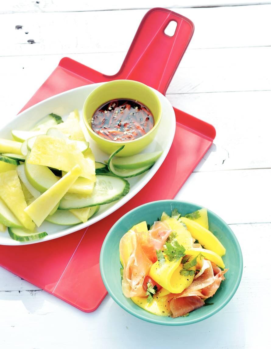 Mango met parmaham