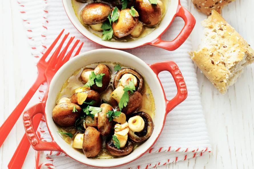 voorgerecht champignons knoflook