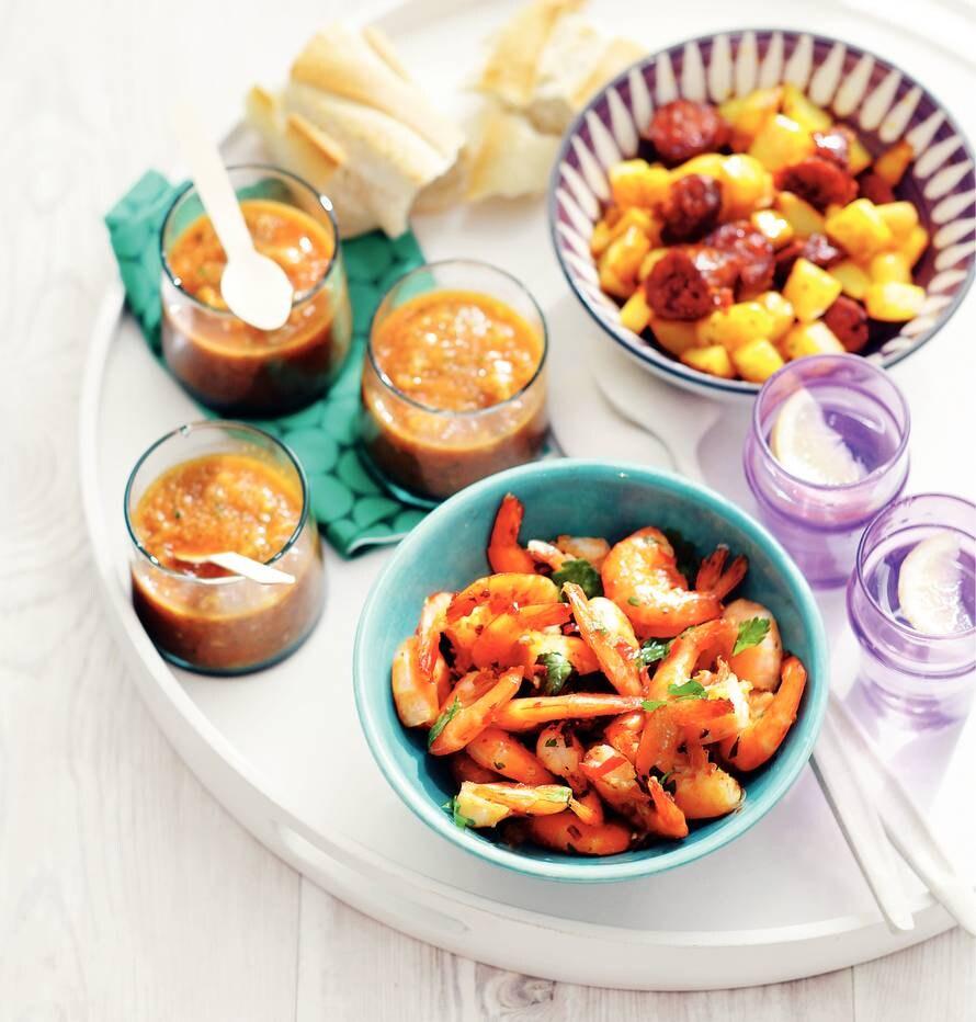 Gebakken aardappel met chorizo
