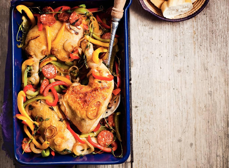 Spaanse kippenstoof met paprika