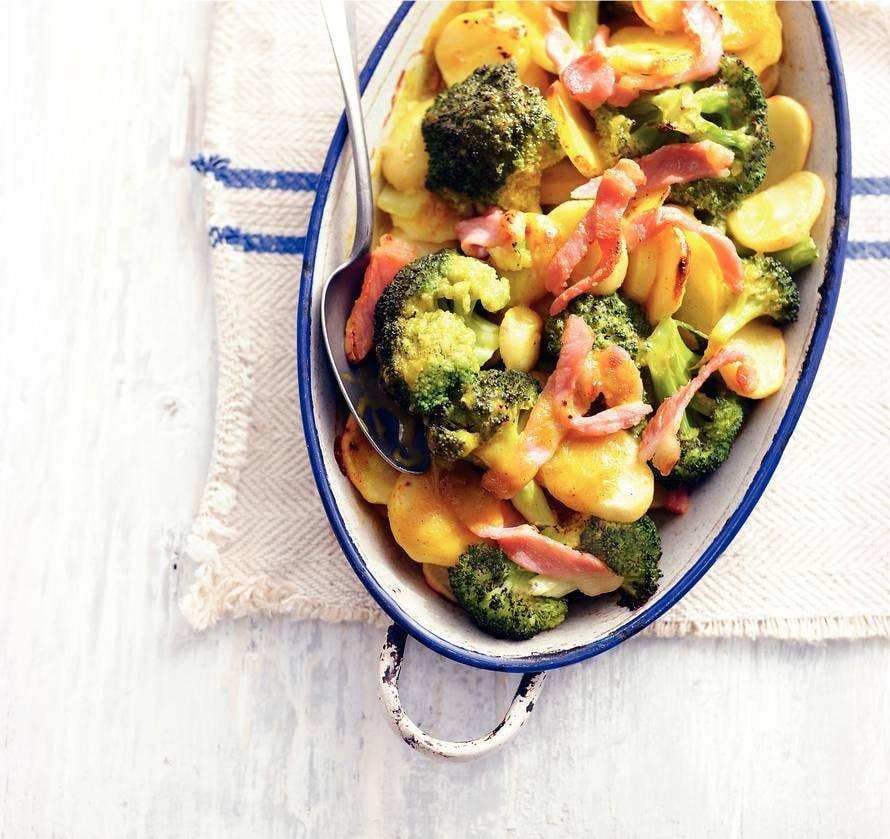Aardappel-broccolischotel