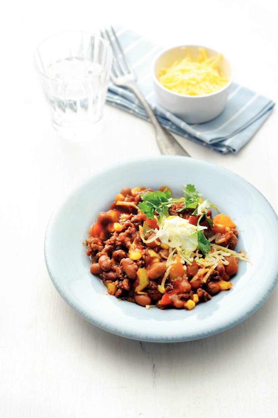 Chili sin carne met vegagehakt