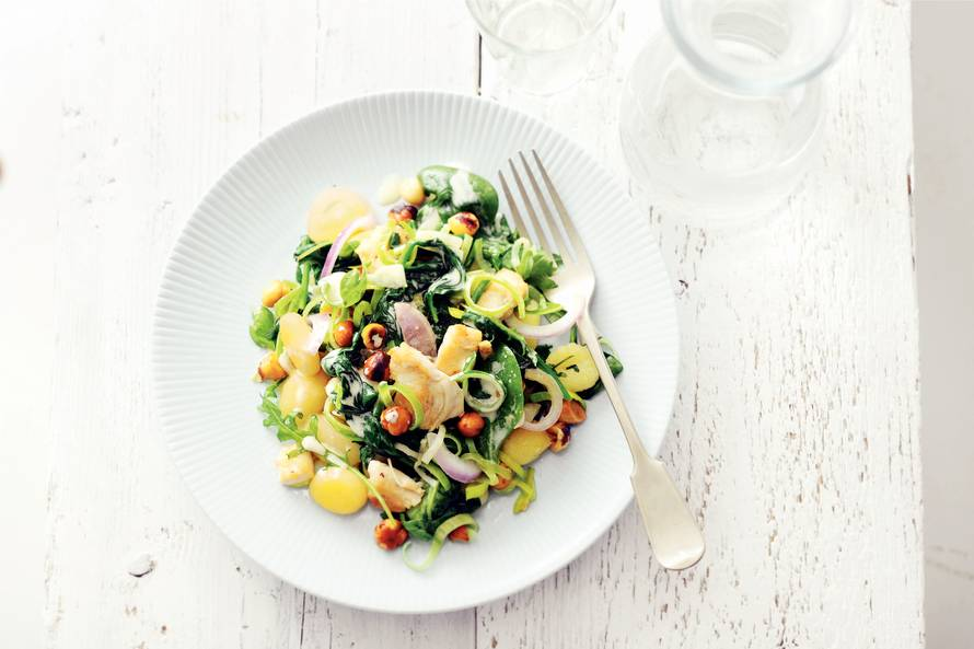 Gnocchi met kip en spinazie