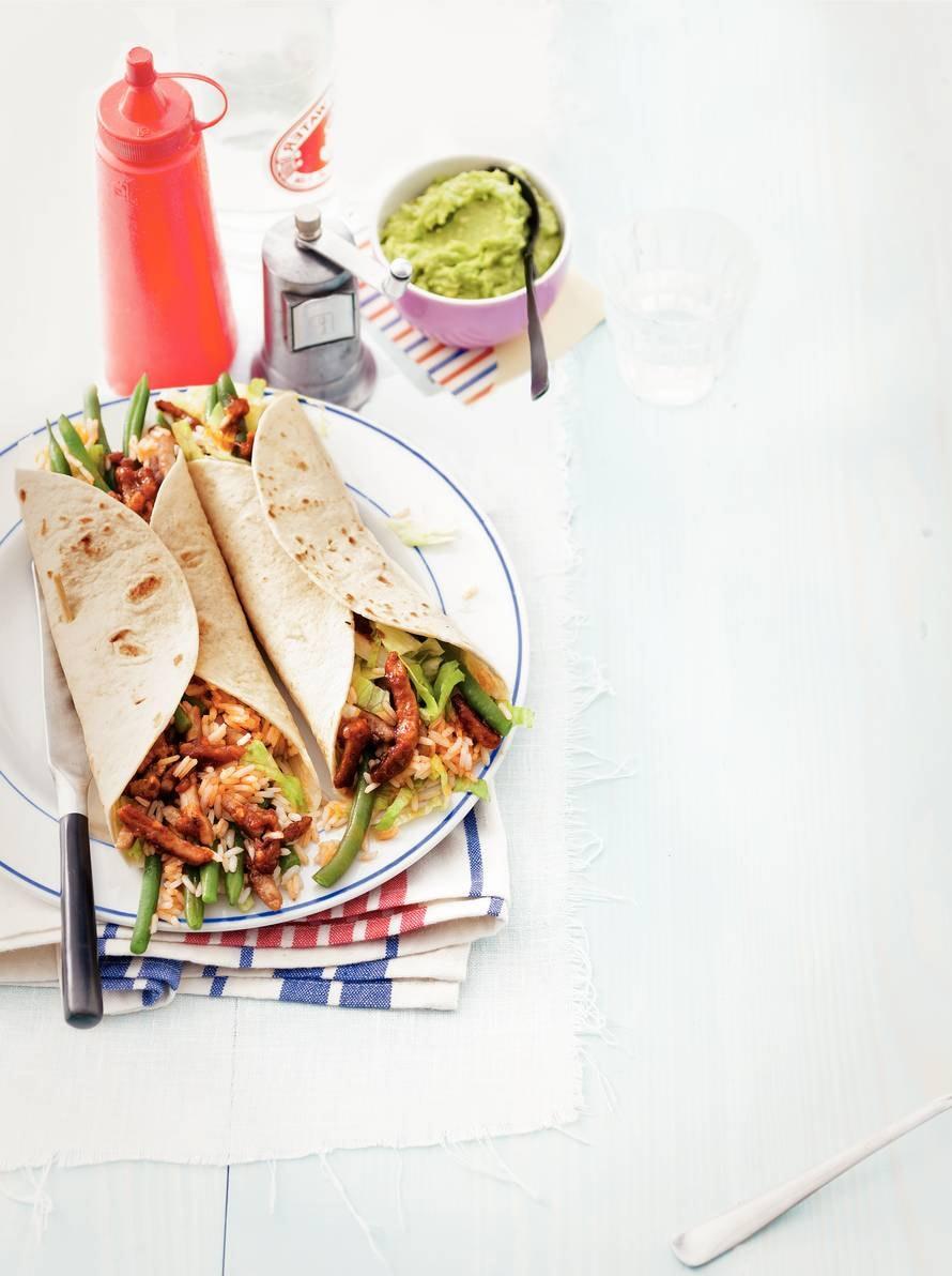 Burrito's met paprikarijst