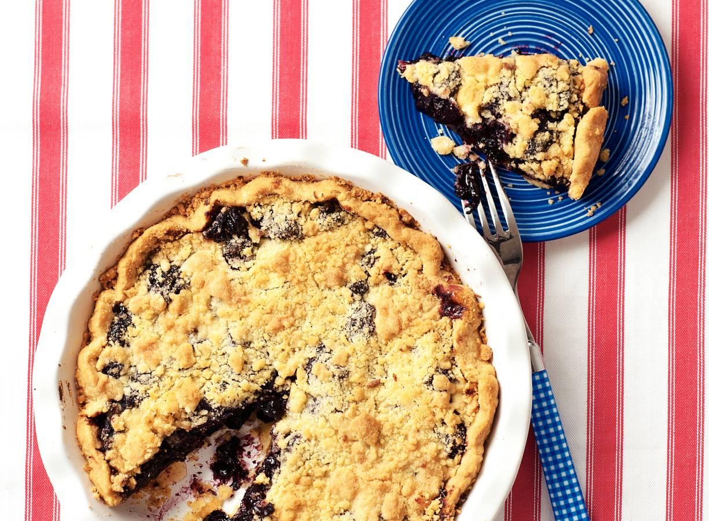 Cherry pie met vanille crumble