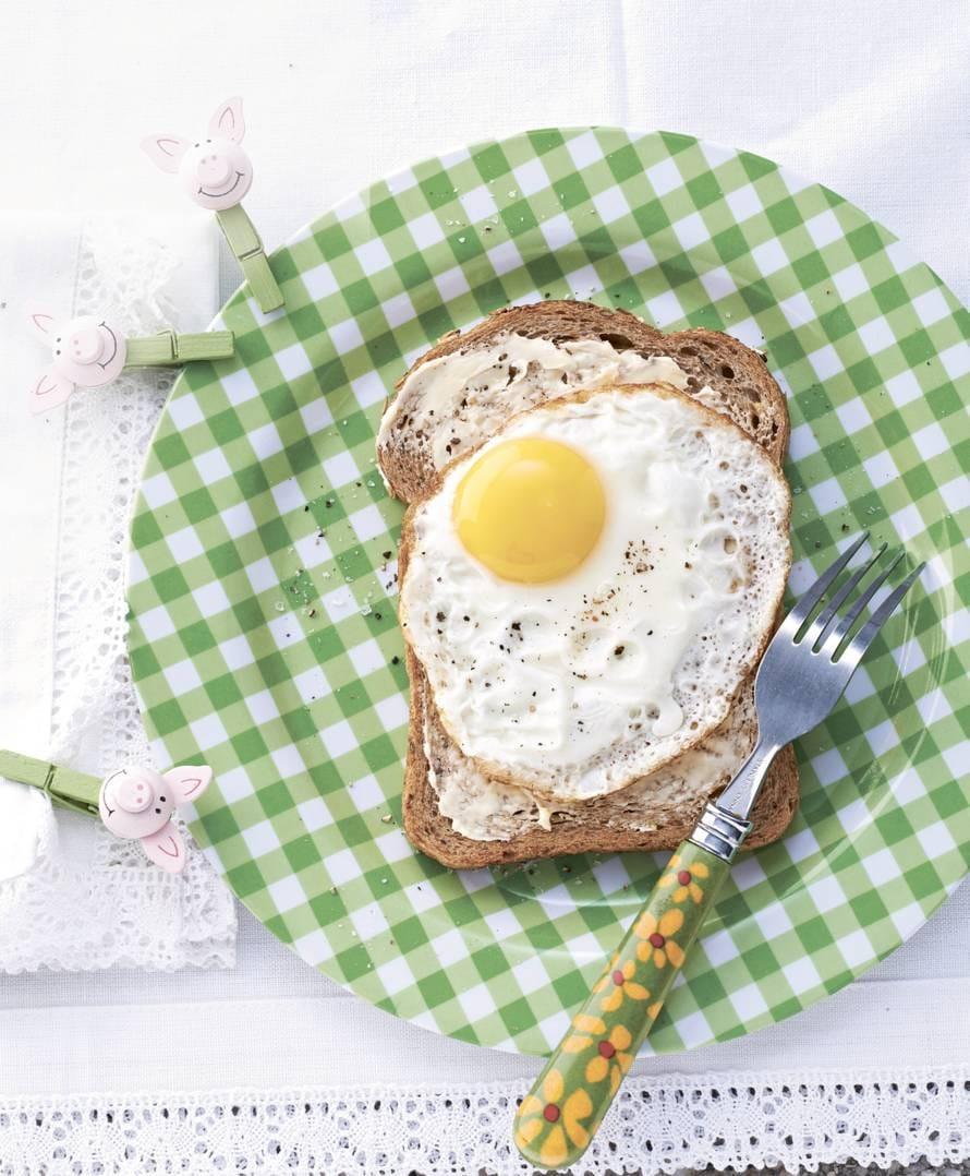 Boterham met gebakken ei