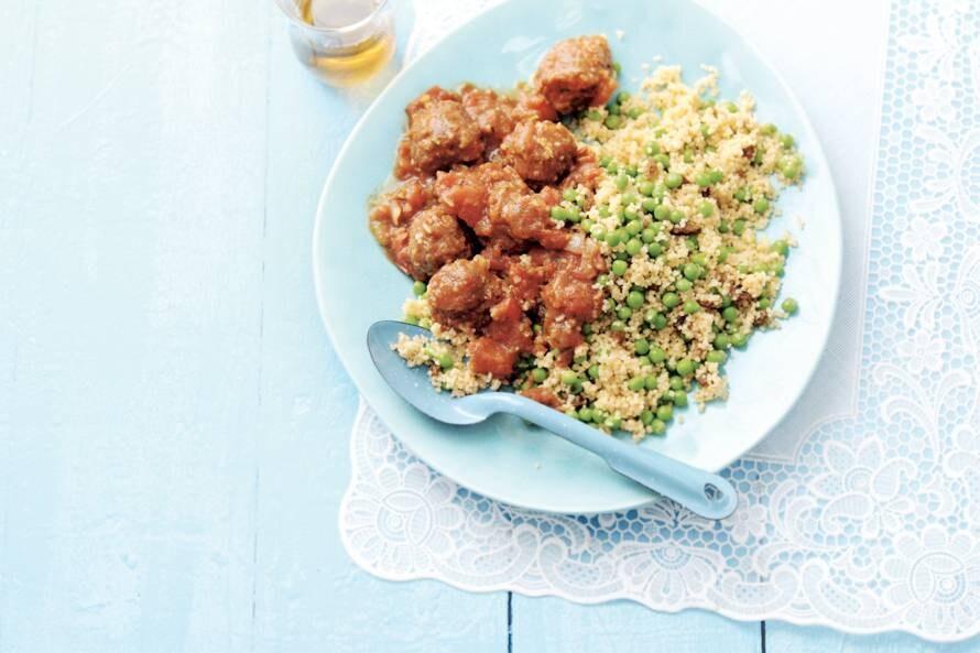 Couscous met vegaballetjes