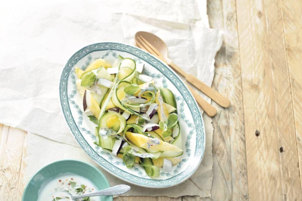 Vegetarische voorgerechten: salades