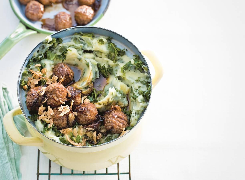 Andijviestamppot met groenteballetjes