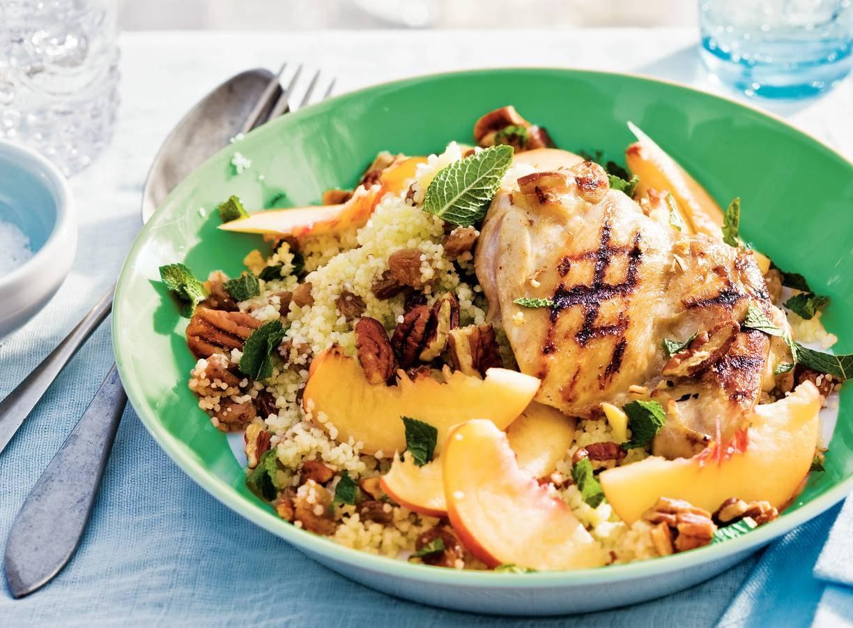 Zoet-hartige couscous met perzik