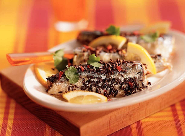 Sardines in koriander-chilimix