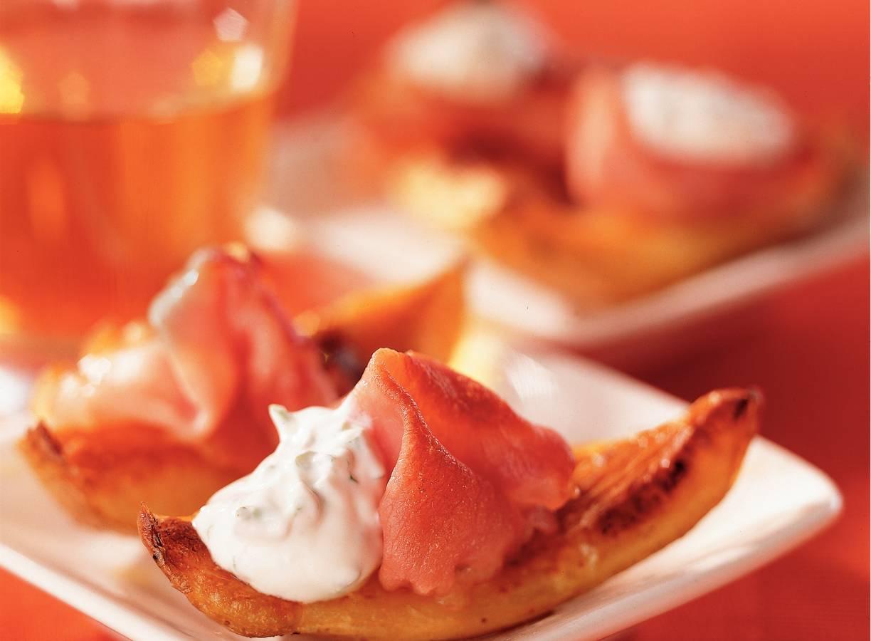 Krokante aardappelbootjes met bacon