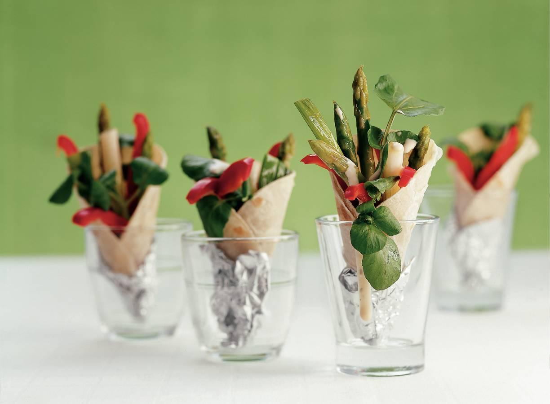 Miniwraps met gegrilde groenten