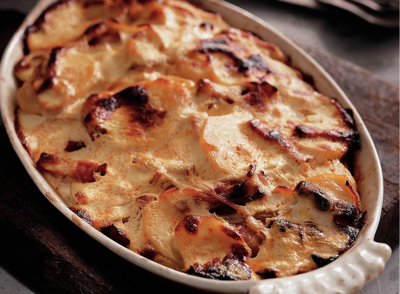 Gegratineerde aardappels met kwark
