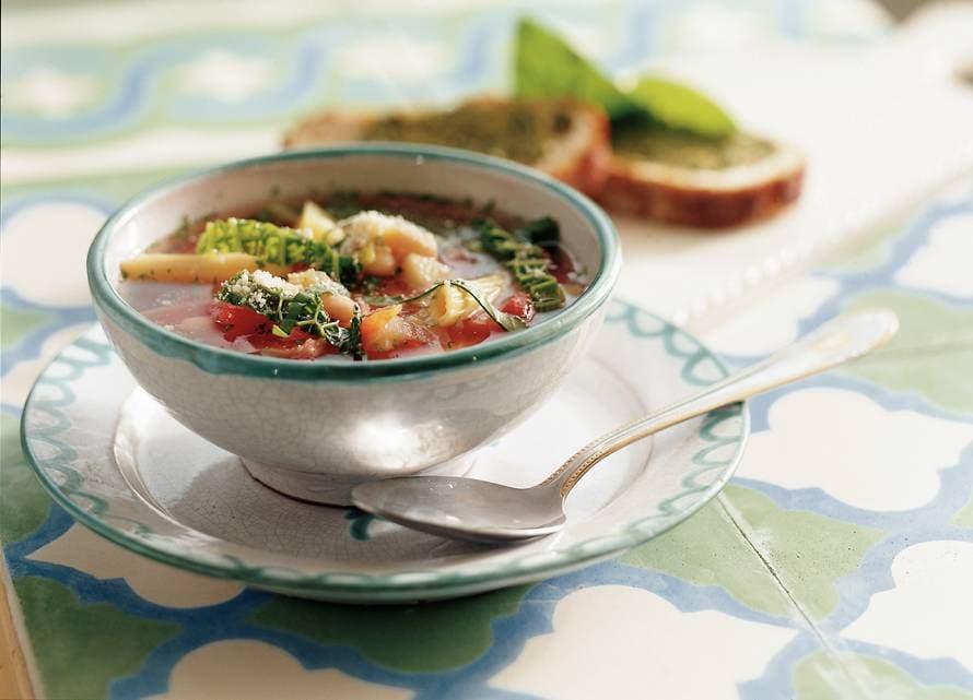 Minestrone tomaten-groentesoep