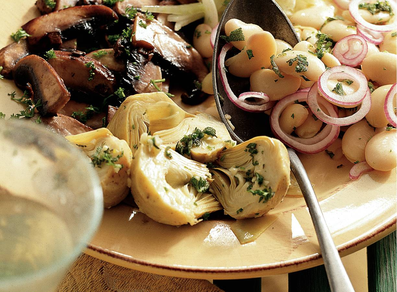 Italiaanse witte-bonensalade