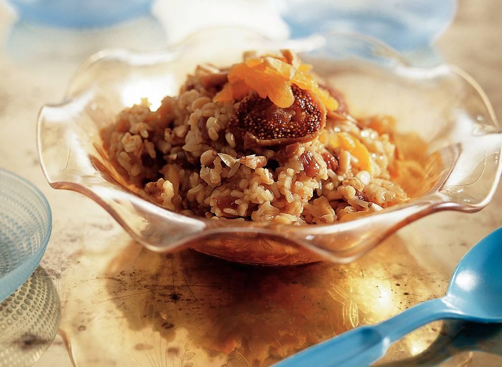 Dessert van tarwekorrels, zuidvruchten en noten - Albert Heijn